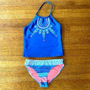 Lucky 2-piece bikini swim suit Girls size 8-10